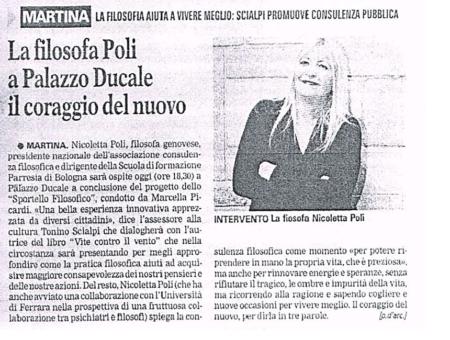 Sportello consulenza filosofica Martina Franca (Taranto)